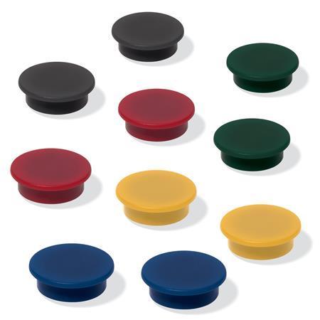 Mágneskorong, 25 mm, 10 db/csomag, SIGEL, 4 különböző szín