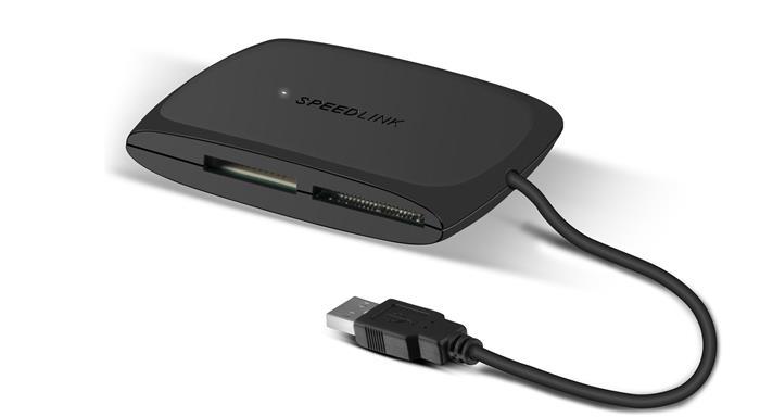 Kártyaolvasó, univerzális, USB 2.0 csatlakozás, SPEEDLINK
