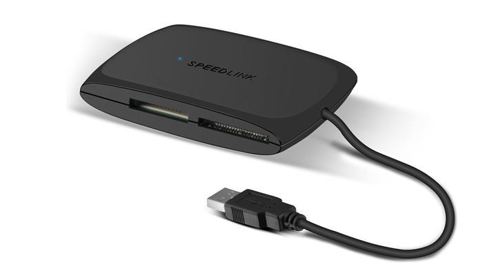 Kártyaolvasó, univerzális, USB 3.0 csatlakozás, SPEEDLINK