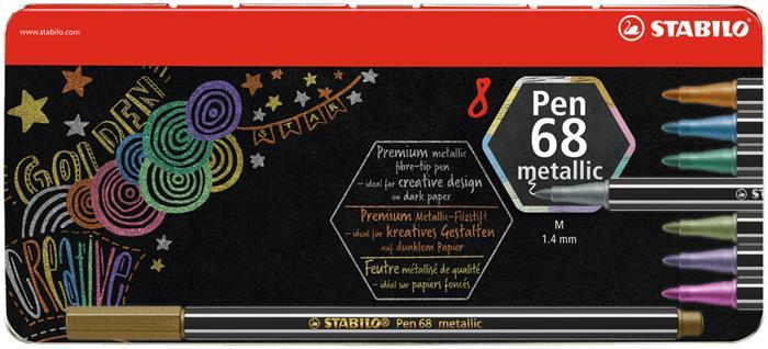 Rostirón készlet, fém doboz, 1,4 mm, STABILO