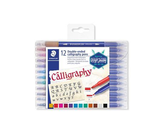 Kalligrafikus marker készlet, 2,0/3,5 mm, kétvégű, STAEDTLER