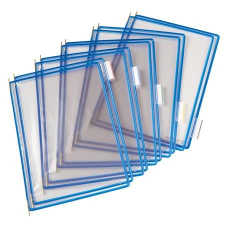 Bemutatótábla, A3, acélkeretes, álló, TARIFOLD, kék