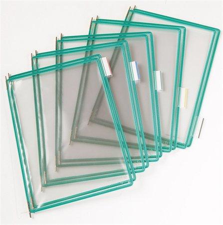 Bemutatótábla, A3, acélkeretes, álló, TARIFOLD, zöld