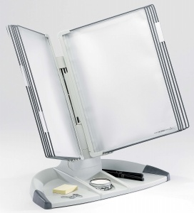 Bemutatótábla tartó bővítő készlet, asztali, A4, 10 férőhelyes, TARIFOLD