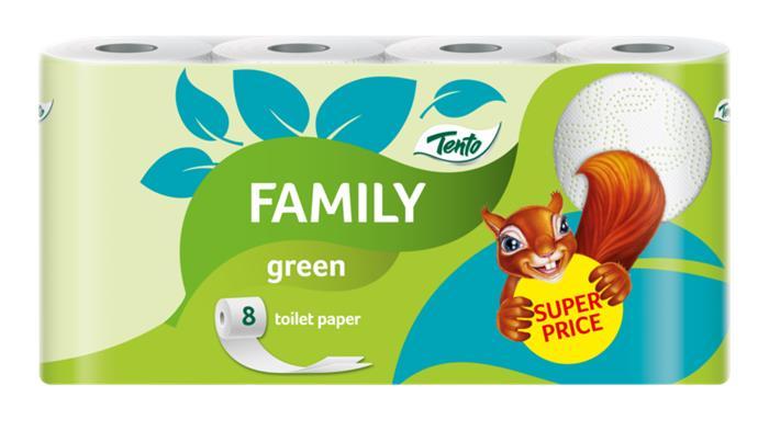 Toalettpapír, 2 rétegű, 8 tekercses, TENTO