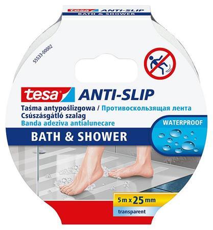Csúszásgátló szalag, fürdőszobai, 25 mm x 5 m, TESA