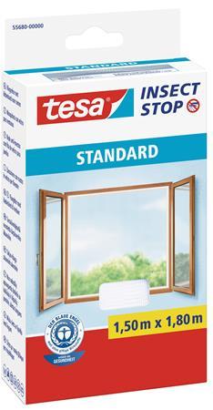 Szúnyogháló, ablakra, tépőzáras, 1,5 x 1,8 m, TESA, fehér