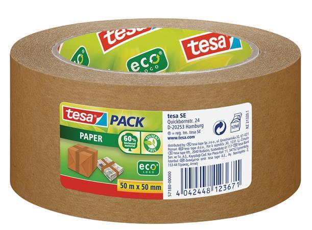 Csomagolószalag, környezetbarát, 50 mm x 50 m, TESA