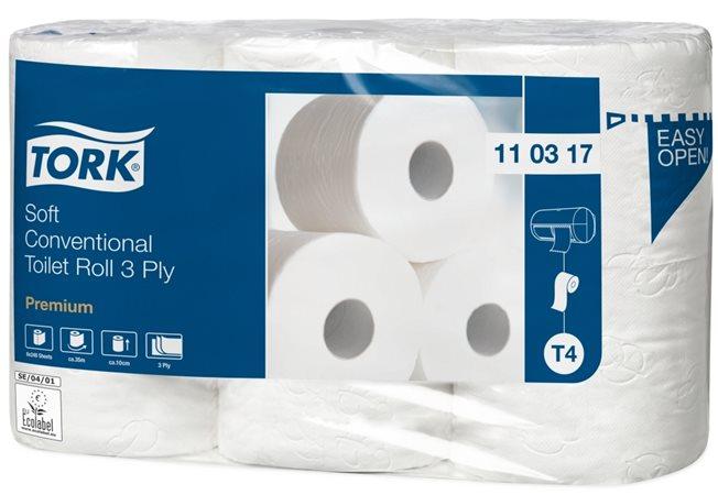 Toalettpapír, T4 rendszer, 3 rétegű, 35 m, TORK