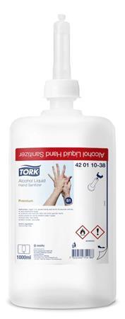Kézfertőtlenítő folyadék, alkoholos, S1 rendszer, 1000 ml, TORK