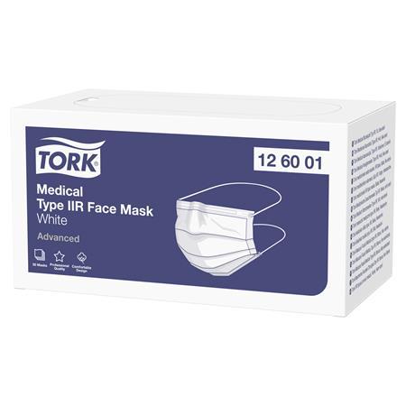 Orvosi maszk, 3 rétegű, TORK, 50 db, fehér