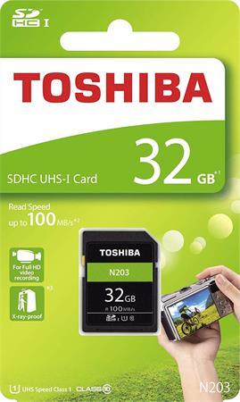 Memóriakártya, SDHC, 32GB, Class 10, TOSHIBA