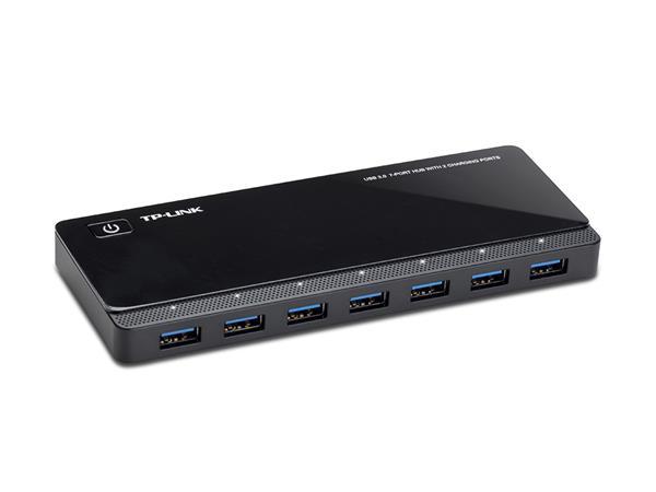 USB elosztó-HUB, 7 port, USB 3.0, 5 Gbps, TP-LINK