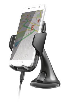 369b3c20867c Autós telefontartó, vezeték nélküli töltővel, Qi szabvány, TRUST