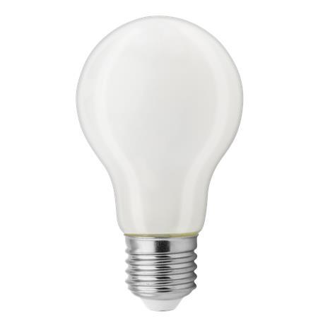 LED izzó, E27, A60 gömb, üveg, 4,5W, 470lm, 2700K, TUNGSRAM