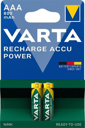 Tölthető elem, AAA mikro, 2x800 mAh, előtöltött, VARTA