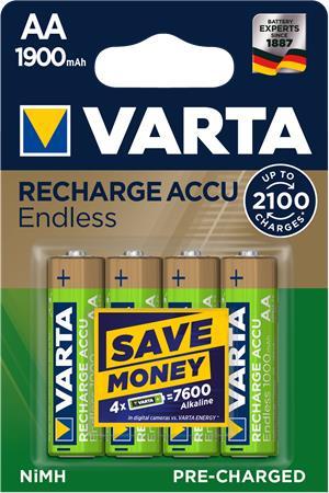 Tölthető elem, AA, ceruza, 4x1900 mAh, előtöltött, VARTA,