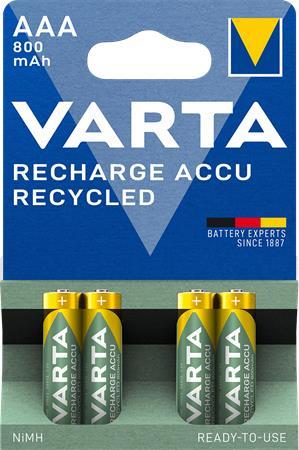 Tölthető elem, AAA mikro, újrahasznosított, 4x800 mAh, VARTA