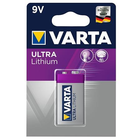 Elem, 9V, 1 db, lítium, VARTA