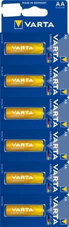 Elem, AA ceruza, 6 db, egyesével téphető, VARTA