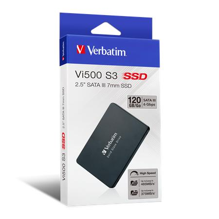 SSD (belső memória), 120GB, SATA 3, 375/485MB/s, VERBATIM