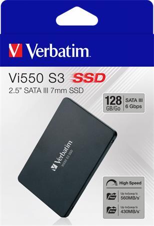 SSD (belső memória), 128GB, SATA 3, 430/560MB/s, VERBATIM