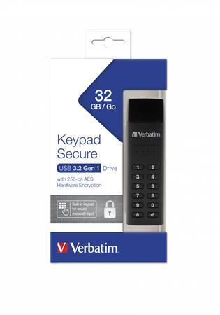 Pendrive, 32GB, jelszavas titkosítás, 160/130Mb/s, USB 3.0, VERBATIM