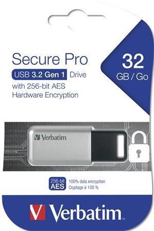 Pendrive, 32GB, USB 3.0, 100/35MB/sec, PC & MAC, GDPR, VERBATIM