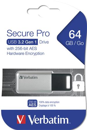 Pendrive, 64GB, USB 3.0, 100/35MB/sec, PC & MAC, GDPR, VERBATIM
