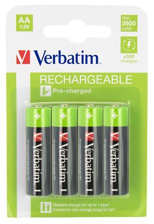 Tölthető elem, AA ceruza, 4x2500 mAh, VERBATIM