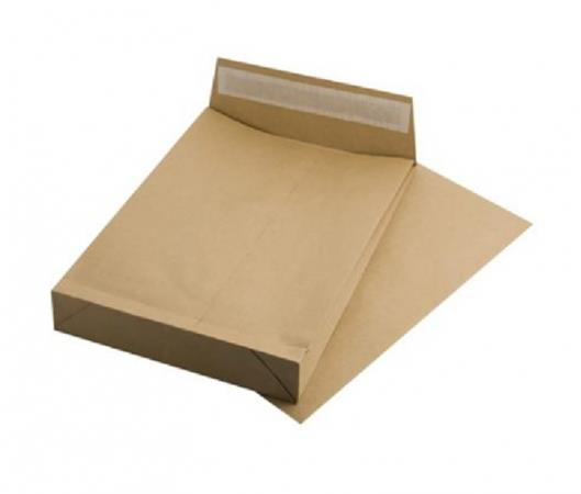 Manilla envelope, TC4, peel and seal, 50 mm thick, VICTORIA, brown gascofil