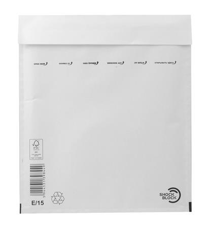 Bubble-lined bag, external size: 240x275 mm, internal size: 220x265 mm, VICTORIA, white