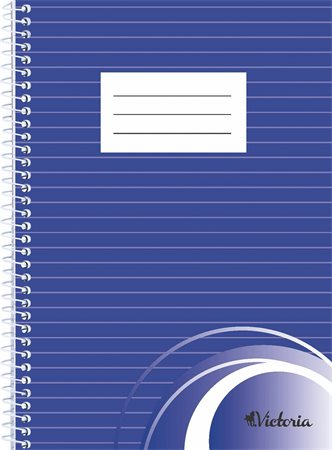 Wirebound notebook, A5, lined, 70 sheets, VICTORIA