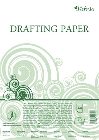 Drafting paper, A4, 20 sheets, VICTORIA