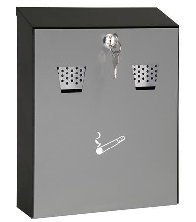 Fali hamutartó, acél, két nyílással, WEDO, szürke/fekete