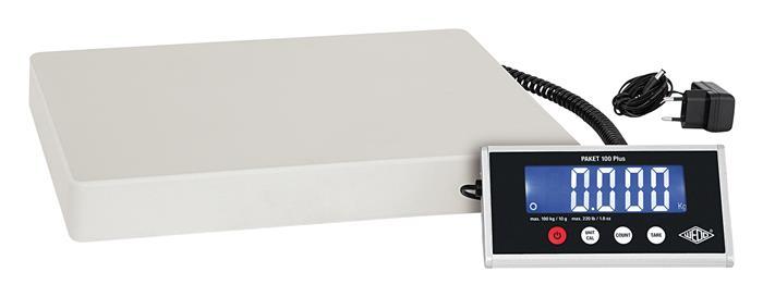 Csomagmérleg, digitális, 100 kg terhelhetőség, WEDO