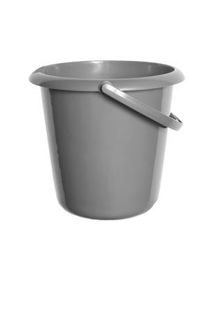 Műanyag vödör, 10 liter, WHITEFURZE, ezüst